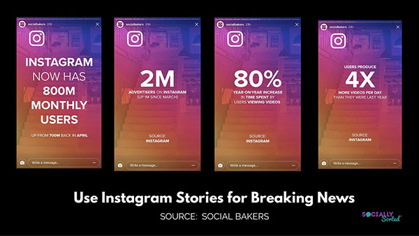 Instagram stories Social Bakers